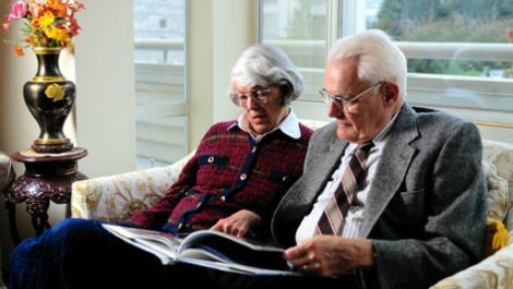 senioren, älteres paar