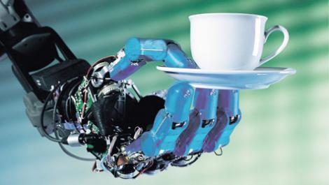 tasse, roboterarm