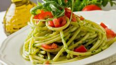Nudeln, Pesto, abnehmen