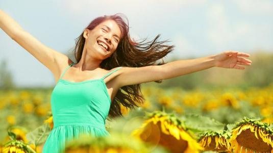 frau, sommer, sonne, sonnenblumen