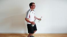 Mann, Oberschenkel, Fußball, Training