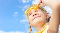 Sonne, Mädchen, Sonnenbrille, UV-Licht