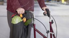 Senioren, Rollator, Gehhilfe