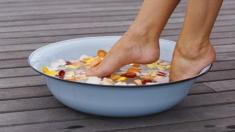 Füße, Wanne, Fußbad