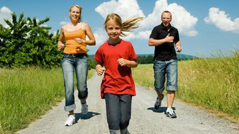 familie, joggen, sport