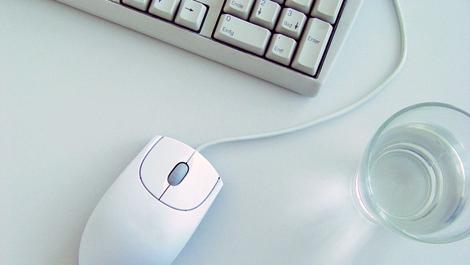 computer, maus, tastatur