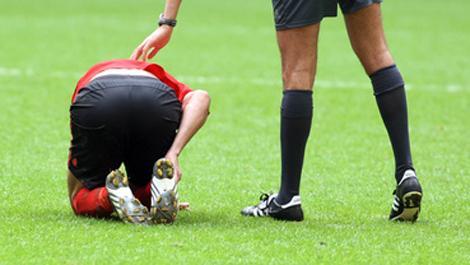 fußball, sportverletzung