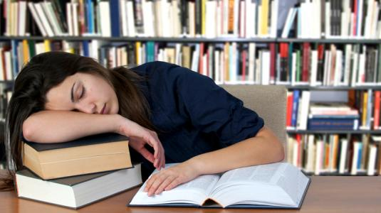 lernen, schlafen, bücher