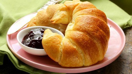 croissant, marmelade, frühstück
