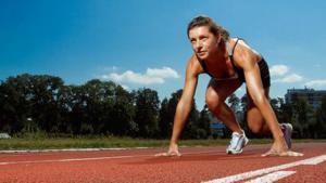 Frau bei Leichtathletik