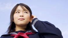 Atomkatastrophe in Fukushima: Japanisches Mädchen
