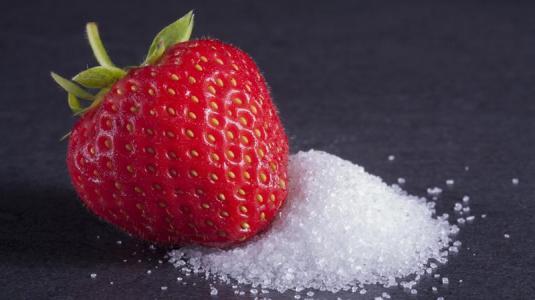 erdbeere, zucker, fruchtzucker