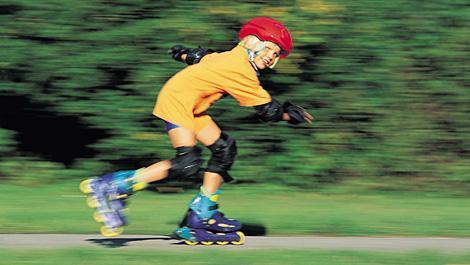 bewegung, kind, sport, rollerblade