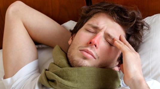 grippe-kranke haben oft fieber.
