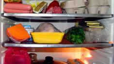 Kühlschrank, Lebensmittel, Eier, Fleisch, Wurst