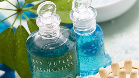 badeöl, flaschen