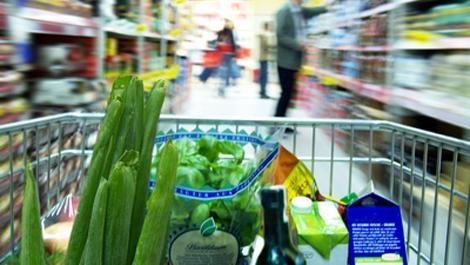 gemüse, lebensmittel, obst, supermarkt, einkaufswagen