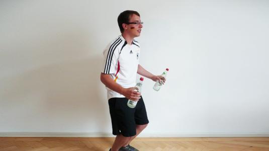 fußball, mann, oberschenkel, training