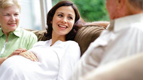 frau, schwanger, schwangerschaft