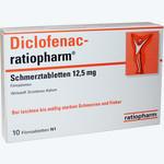 Diclofenac-ratiopharm Schmerztabletten 12.5 Mg